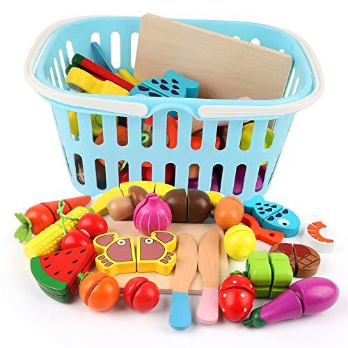 BeebeeRun Kleinkinder Spielzeug 3 Jahre Mädchen Junge,Schneiden Kinder,Schneiden Obst Gemüse Lebensmittel...
