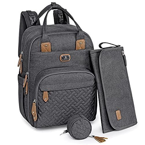 Wickeltasche Rucksack - Dikaslon Großer Wickelrucksack mit Multifunktions-Babytaschen und mobiler...
