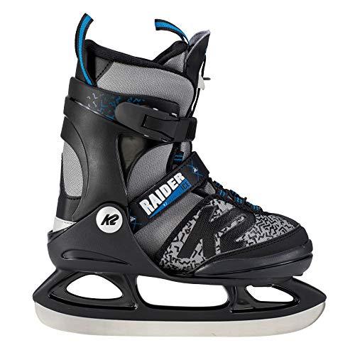 K2 Skate Jungen Raider Ice Schlittschuhe, Schwarz/Grau, L/US 4-8/EU 35-40