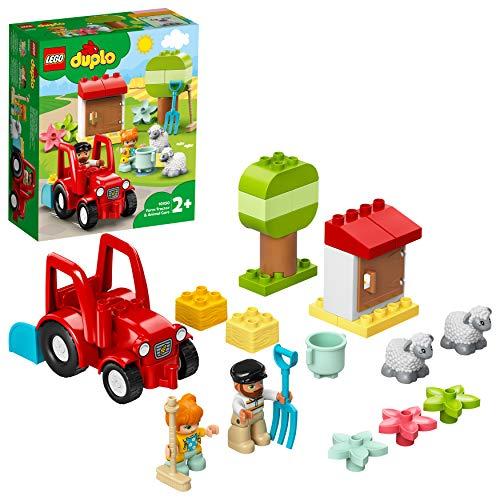 LEGO 10950 DUPLO Traktor und Tierpflege Kleinkinder Spielzeug ab 2 Jahren, Bauernhof, Spielset mit Bauern und...