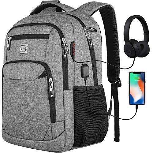 Laptop Rucksäcke mit USB-Ladeanschluss Herren Damen für Arbeit Schule Uni Schulrucksack für Jungen Teenager...