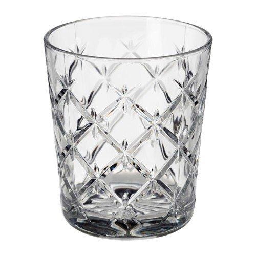IKEA FLIMRA Gläser aus Klarglas; gemustert; (28cl); 4 Stück