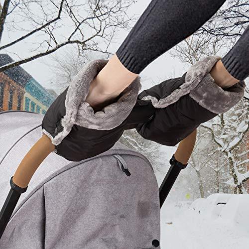 Handwärmer Kinderwagen Handschuhe Handmuff mit warme Fleece und Baumwolle Innenseite Wasserdicht und...