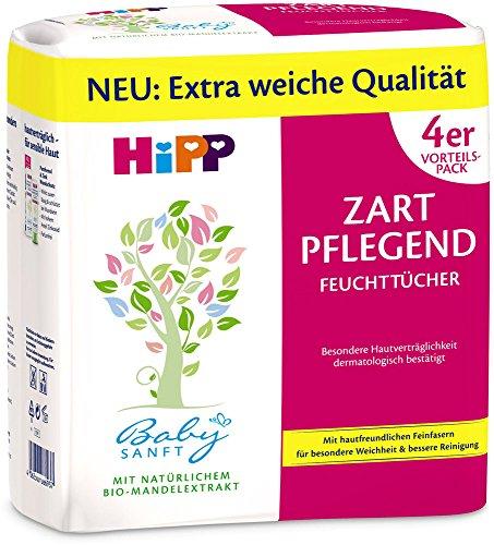 HiPP Babysanft Feucht-Tücher Zart Pflegende, 3er Pack (3x4x56 Tücher)