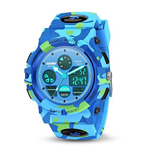 Toyzzii Geschenk Junge 4-15 Jahre, Kinderuhr Junge Mädchen Geschenke 4-15 Jahre Armbanduhr Mädchen Spielzeug...