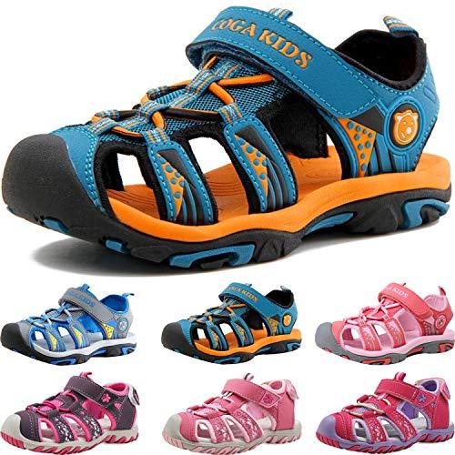 Sandalen Jungen Mädchen Kinder Geschlossene Sportliche Sandalette Kinder Atmungsaktiv Strandschuhe Outdoor...
