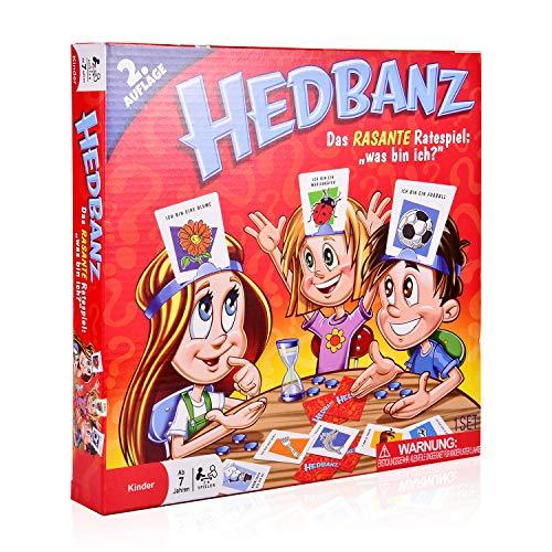 COSMOERY Hedbanz, Hedbanz Brettspiele Spieleklassiker Kinderspiel Kartenspiele Rätselraten was Bin ICH -...