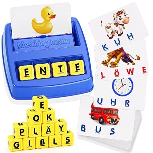 LET'S GO! Kinder Spielzeug ab 3-8 Jahre Junge, Buchstaben Lernen Kindertag Geschenk Geschenke für Mädchen ab...