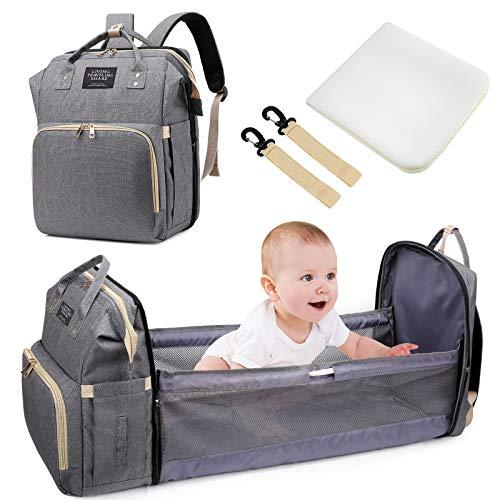 Baby Wickeltaschen, Uiter Tragbar Baby Reisebett Krippe Wickeltasche Rucksack Multifunktions wasserdicht mit...