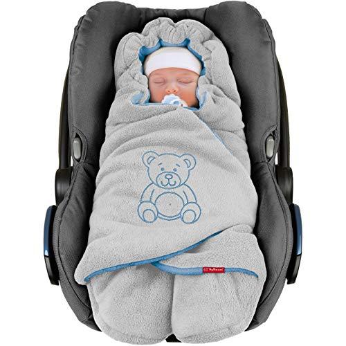 ByBoom - Baby Winter-Einschlagdecke'Das Original mit dem Bären', Universal für Babyschale, Autositz, z.B....