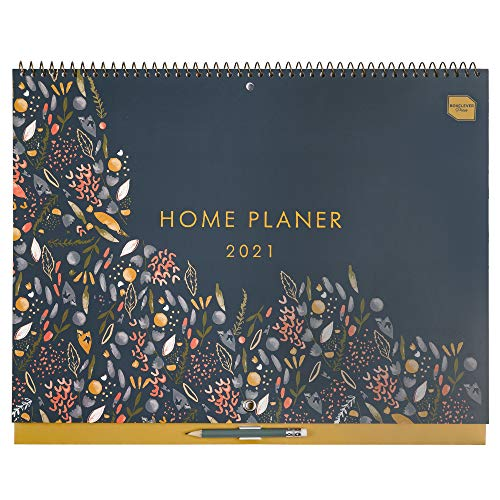 Boxclever Press Home Planer 2021. Kalender 2021 Familienplaner mit Monatsansicht. 16-monatiger Wandkalender...
