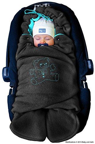 ByBoom - Baby Winter-Einschlagdecke 'Das Original mit dem Bären', Universal für Babyschale, Autositz, z.B....