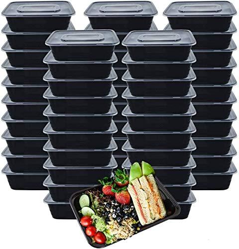 Ideal Swan [50 Pack] Meal Prep Boxen 1000ml 1Fach Food Prep Boxen Box Meal Prep Hergestellt aus BPA-freiem...