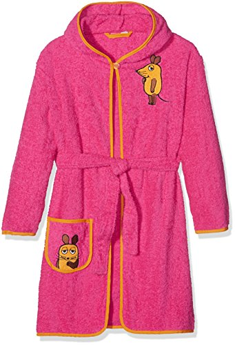 Playshoes M dchen Frottee-bademantel die Maus Bademantel, Rosa (Pink 18), 110-116 EU