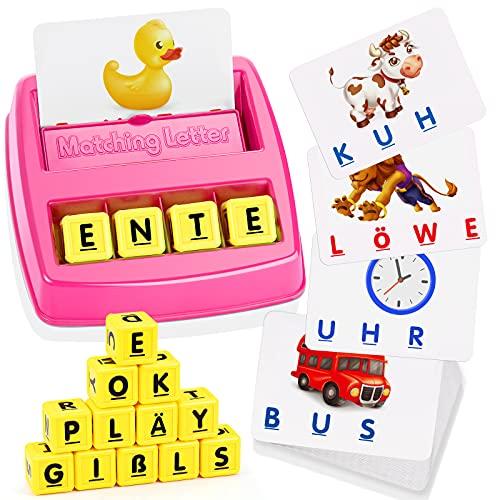 Spielzeug ab 3 4 5 6 7 8 Jahre Mädchen, LET'S GOS! Buchstaben Lernen Geburtstagsgeschenk für Mädchen 3-8...