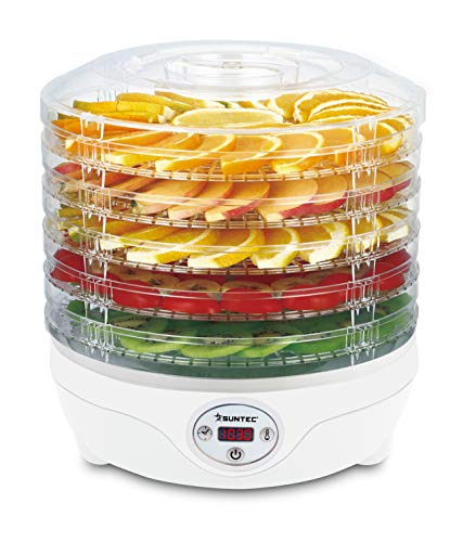 SUNTEC Dörrautomat FDH-8595 | Dörrgerät Digital Trockner für Fleisch, Gemüse, Obst | Timerfunktion...