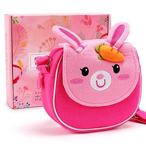 Cosyres Hase Kinder Umhängetasche Kindertasche für Mädchen Schultertasche Klein Pink