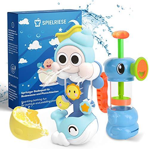 SPIELRIESE Badewannenspielzeug Set - BPA frei - Badespielzeug Baby - Wasserspielzeug zum Planschen in...