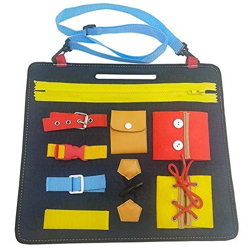 SNIIA Baby Busy Board Montessori Spielzeug für frühe Lernen Grundkenntnisse Lernbuch mit Reißverschluss...