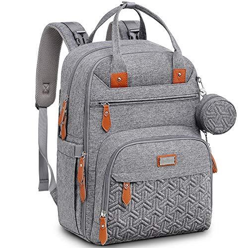 Baby Wickeltasche/Rucksack, Unisex Wickelrucksack Babytasche mit Wickelauflage, Isoliertaschen &...