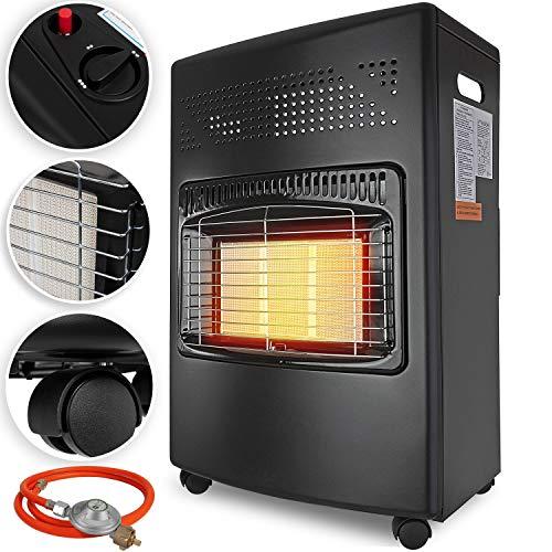 KESSER® 4200 Watt Keramik Gasheizer inkl. Gasdruckregler Gasschlauch - Gasheizofen, Heizstrahler...