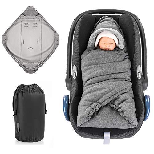 Zamboo Einschlagdecke für Babyschale und Kinderwagen - praktische Alternative zum Baby Winter-Fußsack,...