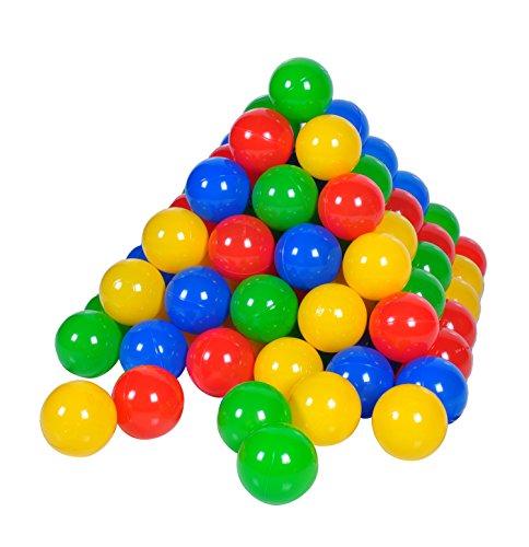 Knorrtoys 56789 - 100 Bälle in knalligem Blau, Rot, Gelb und Grün ohne gefährliche Weichmacher - ca. Ø 6...