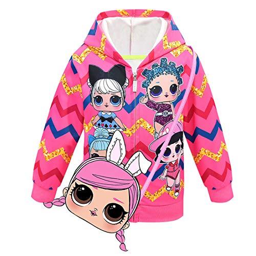 AlaMing LOL Kapuzenjacke, überraschend modisch, bedruckt, für Mädchen, Herbst-,Wintermantel, Jacke,...