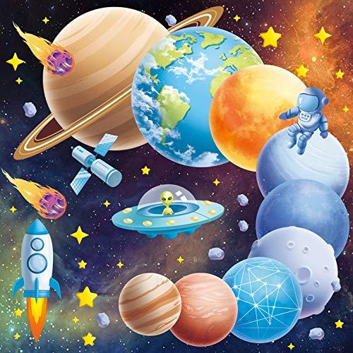 Leuchtsterne Selbstklebend Wandtattoo Planeten Kinderzimmer Jungen, Wandaufkleber Sternenhimmel Aufkleber für...