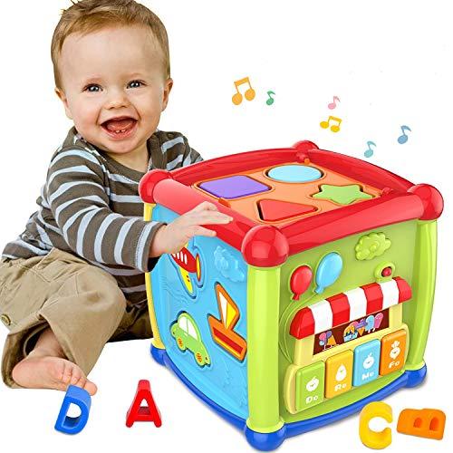ATCRINICT Baby Aktivität Würfel Spielzeug für 1 Jahre altes Baby Spielzeug 6 12 Monate Musik und Sound...