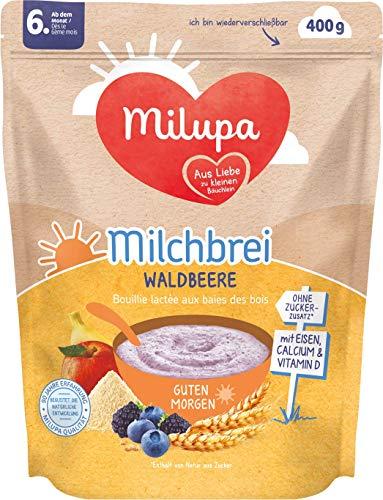 Milupa Milchbrei Waldbeere Guten Morgen ab dem 6. Monat, 4er Pack (4 x 400 g)  154152
