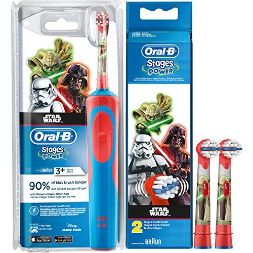 SPAR-SET: 1 Braun Oral-B Stages Power AdvancePower Kids 900 TX elektrische Akku Zahnbuerste Kinder 3 J....