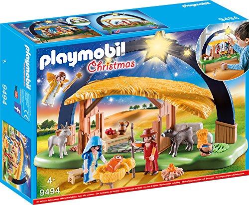 PLAYMOBIL Christmas 9494 Lichterbogen 'Weihnachtsgkrippe' mit ausklappbaren Standfüßen, Ab 4 Jahren