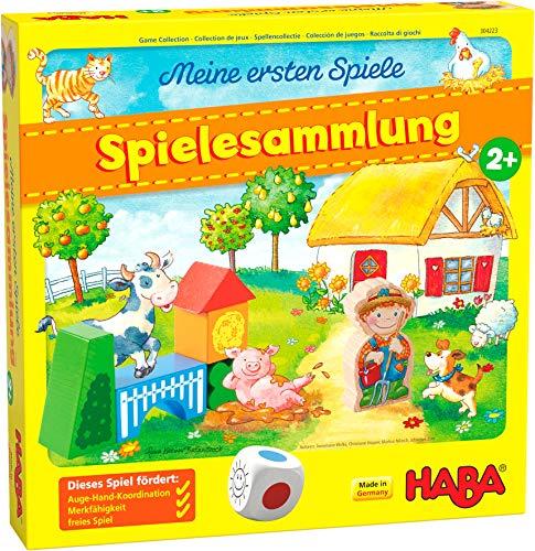 HABA 304223 - Meine ersten Spiele – Spielesammlung, 10 erste Spiele auf dem Bauernhof für 1-3 Kinder ab 2...
