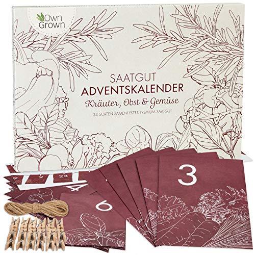 Samen Adventskalender 2021: Nachhaltiger Küche und Garten Adventskalender mit Kräuter, Obst, Gemüse Samen...