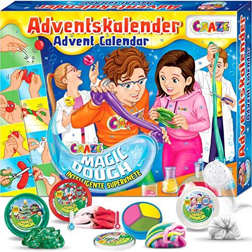 CRAZE Adventskalender 2020 MAGIC DOUGH magische Knete + Zubehör kreativer Knetspaß für Kinder und...