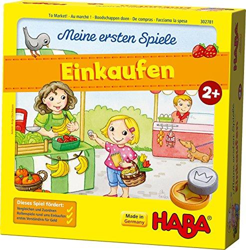 HABA 302781 – Meine ersten Spiele – Einkaufen, Spiel ab 2 Jahren mit 3D-Marktstand und Spielmaterial aus...