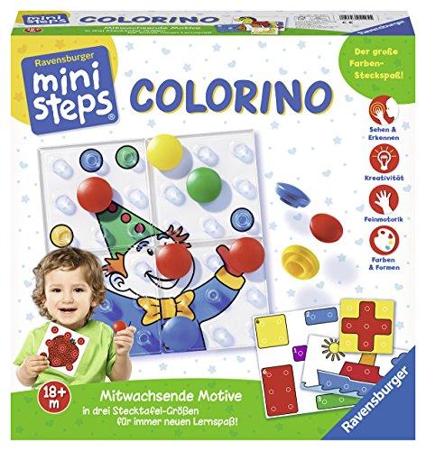 Ravensburger 04503 7 ministeps Colorino, Lernspiel für Kleinkinder ab 18 Monaten - So wird Farben lernen zum...