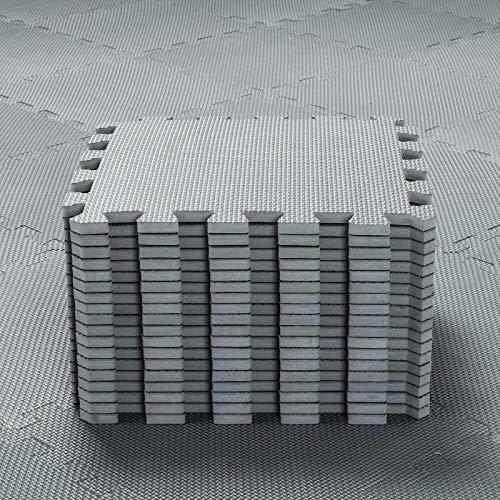 qqpp 18 Puzzle Bodenschutzmatte - Schutzmatte Set Puzzlematte Bodenschutz rutschfest Matte | Fitnessmatte...