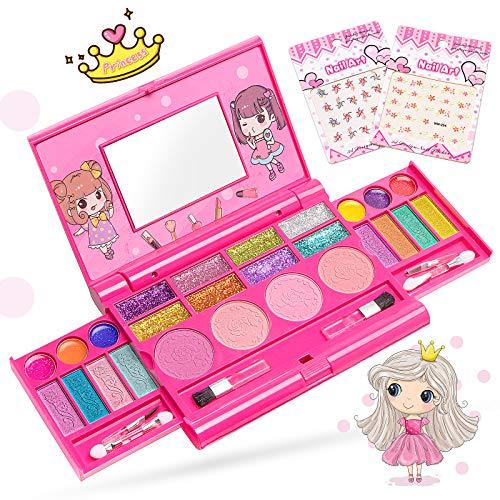 Pickwoo Mädchen Kinderschminke Set, Make-Up Palette, echtes Schminkset, Waschbar sicher ungiftig...