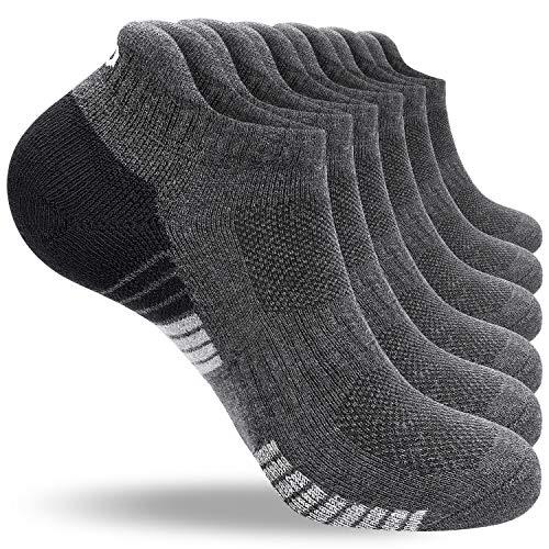 anqier 6 Paar/3 Paar Sneaker Socken Herren 43-46 39-42 35-38 47-50 Baumwolle Sportsocken Damen Gepolsterte...