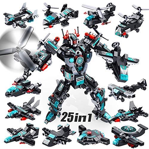 VATOS Roboter Bausteine Spielzeug ab 6 7 8 9 10 Jahren für Jungen, 577 Teile Konstruktionsspielzeug 25-in-1...