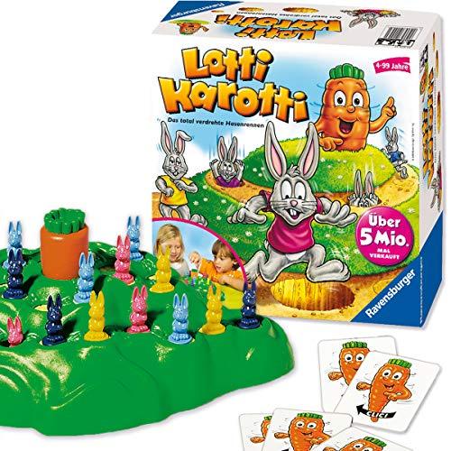Ravensburger Lotti Karotti, Brettspiel für Kindergeburtstage, Gesellschafts- und Familienspiel, für Kinder...