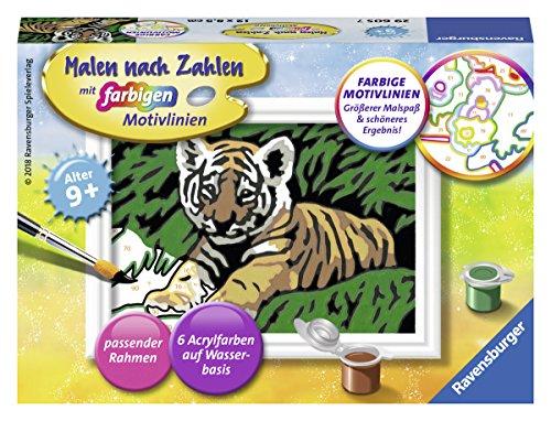 Ravensburger Malen nach Zahlen 29605- Süßer Tiger - Für Kinder ab 9 Jahren