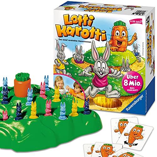 Ravensburger 21556 - Lotti Karotti, Brettspiel für Kinder ab 4 Jahren, Familienspiel für Kinder und...