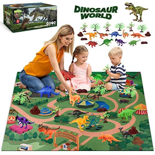 WEARXI Dinosaurier Spielzeug - Dino Spielzeug, Indominus Rex Dinosaurier Figuren spielmatte, Geschenke Junge...