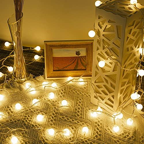 Lepro Lichterkette Kugeln 13M 100 LEDs, Partybeleuchtung Außen 8 Modi, ideale Strom Weihnachtsbeleuchtung...