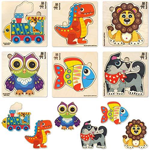 Quokka Puzzle ab 1 2 3 Jahre - 6 Kinder Holzpuzzels und Montessori Spielzeug für Lernspiele - Geschenk Holz...