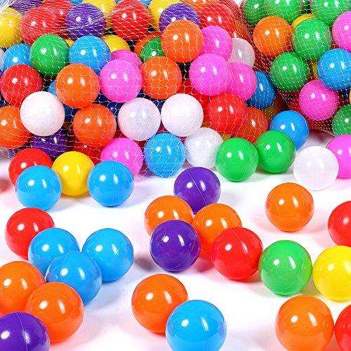 Schramm® 200 Stück Bälle für Bällebad 5,5cm Bälle für Kinder Bällebäder Babybälle Plastikbälle...