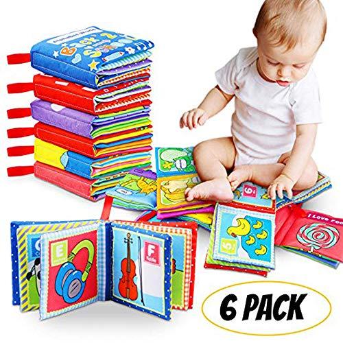 Felly Stoffbuch für Baby, Babybuch, Fühlbuch Kinder Geschenk, 1 Jahr alt, Kleinkind, Pädagogisches...